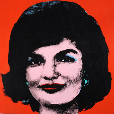 Visuel: Andy Warhol, Red Jackie, 1964 Acrylique et sérigraphie sur tissu – Acryl en zeefdruk op textiel – Acrylic and silkscreen ink on linen, 101,6 x 101,9 cm Collection of The Andy Warhol Museum, Pittsburgh The Andy Warhol Foundation for the Visual Arts, Inc. © SABAM Belgium 2013